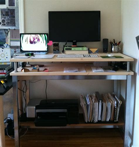 10 Ikea Standing Desk Hacks With Ergonomic Appeal Ikea Stand Up Desk Hack