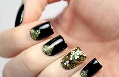 Deco Ongle Et Or deco ongles noir et or