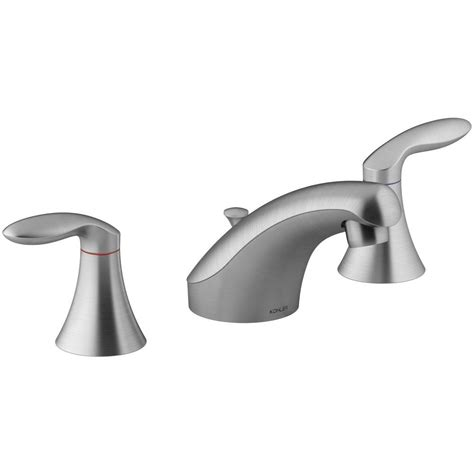 brushed chrome bathroom faucets kohler coralais 8 in widespread 2 handle bathroom faucet