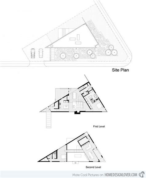 triangular floor plan komai residence a creative triangular house in virginia