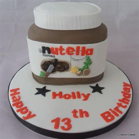 design nutella label 3d nutella jar themed chocolate cake www creationcakes org