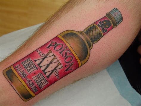 tattoo liquor collection of 25 booze bottle flash