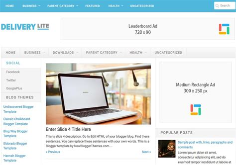 pc themes delivery delivery lite responsive blogger template free
