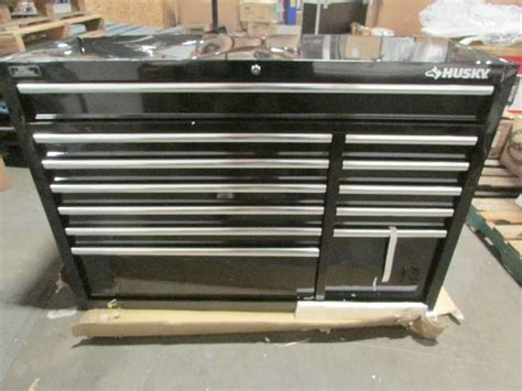Husky 52 In 18 Drawer Tool Chest And Cabinet Set Black by Husky 52in 18 Drawer Tool Chest And Cabinet Set 1000017605