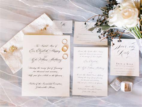 wedding invitations jacksonville fl classic winter wedding in jacksonville florida wedding