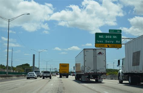 Miami Dade Traffic Search Florida Aaroads Interstate 95 South Miami Dade County