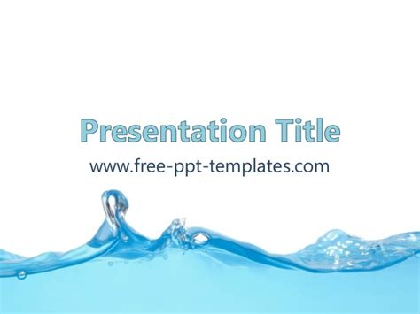 Water Ppt Template Water Powerpoint Template