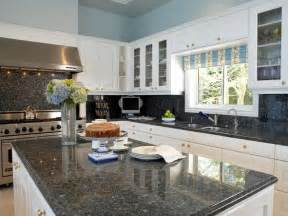 Kitchen Cabinet Colors For Black Countertops Granite Countertop Colors Hgtv
