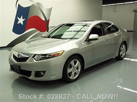 find used 2010 acura tsx sunroof htd leather paddle shift