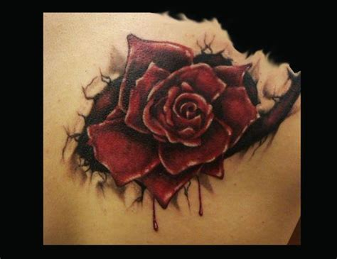 bleeding black rose tattoo black and tattoos breaking out of skin