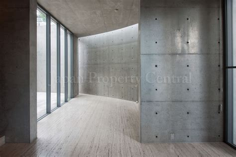 Home Interior Lighting Design by Tadao Ando Designed House In Tokyo For Sale Japan