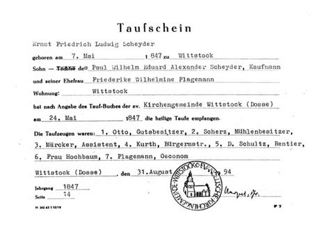 Stettin Germany Birth Records Family Trees