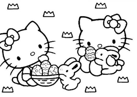 hello kitty coloring pages easter az coloring pages
