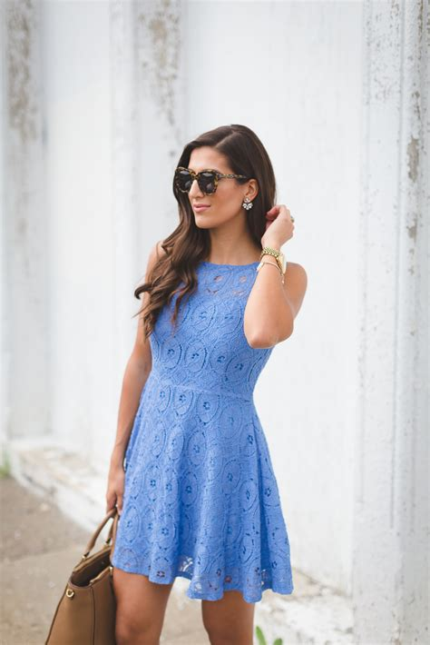 Summer Flare Dress lace fit and flare dress a southern drawl
