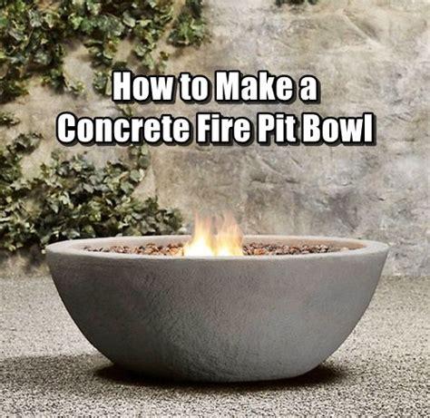 how to make a concrete fire pit bowl concrete fire pits