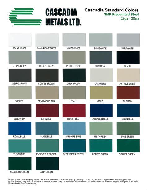 color of metals colour options