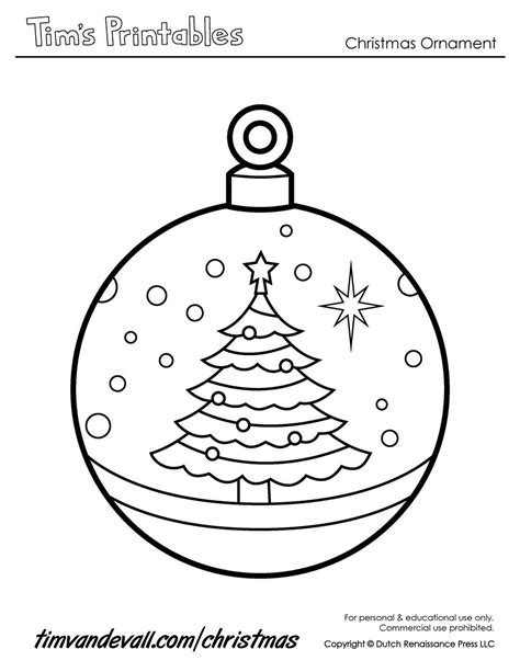 Coloring Pages For Ornaments by Printable Ornaments For Coloring Home