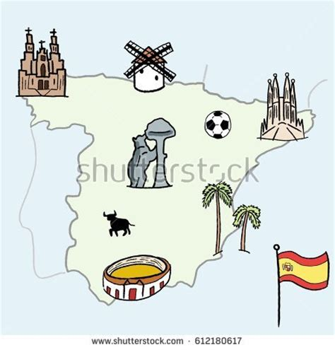 doodle barcelona spain flag stock images royalty free images vectors