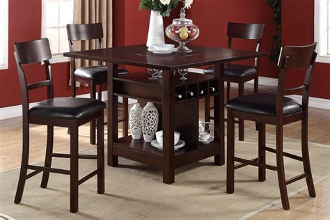 F2347 Counter Height Tables Wine Storage Welcome To Dining Room Set High Tables
