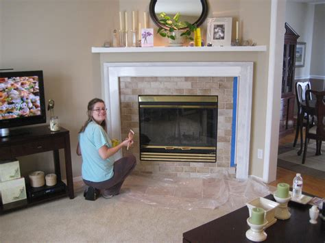 Painting Tile Fireplace Surround by 301 Moved Permanently