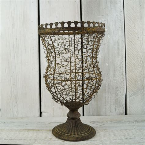 Wire Vase by Aged Wire Vase Satchville Gift Co Wedding Planter