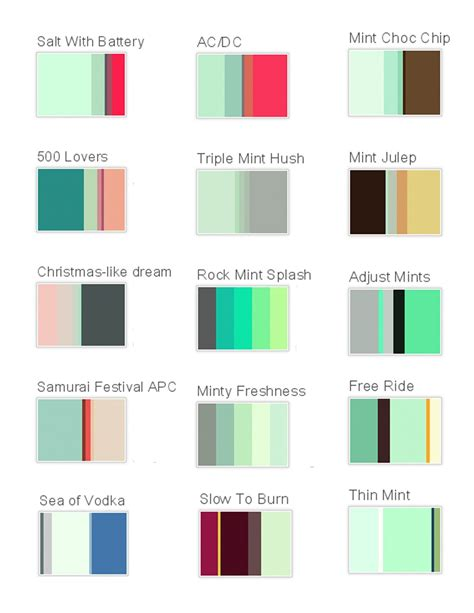 color palette generator interior design mint color palettes mint colored wedding theme pinterest