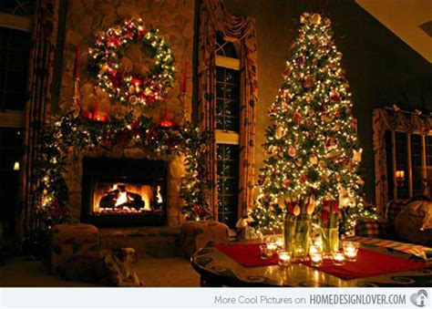 christmas room 15 christmas decorated living rooms home design lover