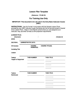 lesson plan template forms fillable printable sles for pdf word pdffiller