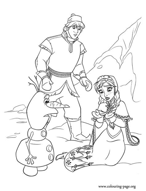 frozen coloring pages anna and kristoff family frozen anna kristoff and olaf on ice coloring page