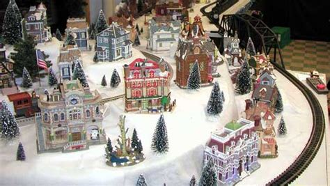 layout for christmas village valley auto s lionel train layout with lemax village