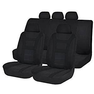 Breathable Car Seat Covers Uk Black Car Seat Covers Universal Airbag Safe Padded