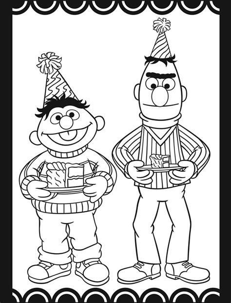 sesame street coloring pages birthday sesame street birthday party stained glass coloring book