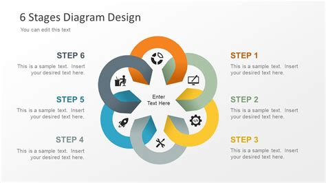 download mechanism system powerpoint template free editable 6 stage diagram for powerpoint slidemodel