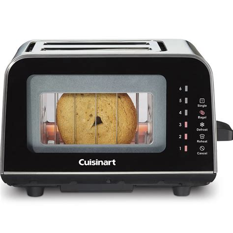 Glass Toaster Cuisinart Viewpro 2 Slice Glass Toaster Reviews Wayfair
