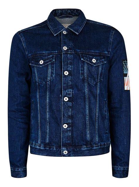 Denim Jacket blue back patch denim jacket topman