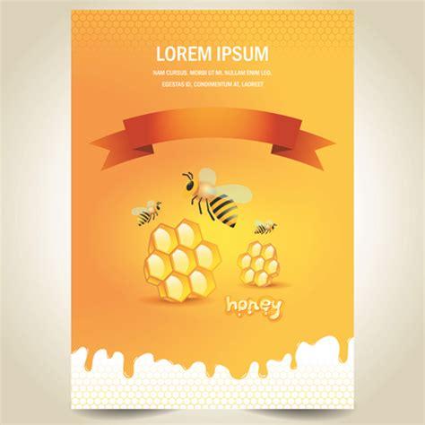 creative poster design vector creative honey poster vector design vector cover free