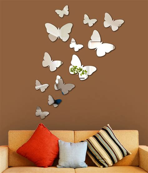 wall 2 wall stickers wall1ders 3d acrylic mirror butterflies wall sticker buy