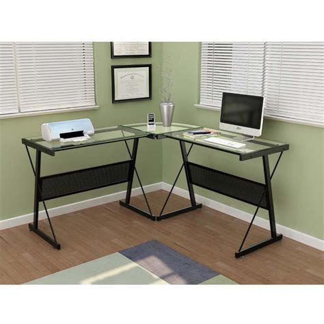 Z Line L Shaped Desk Z Line Designs Solano L Shaped Glass Computer Desk Black Zl205 01ld