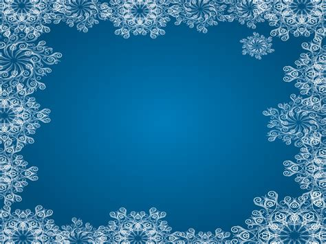 Blue Snowflake Frames Backgrounds Blue Border Frames Christmas White Templates Free Ppt Snowflake Powerpoint Template