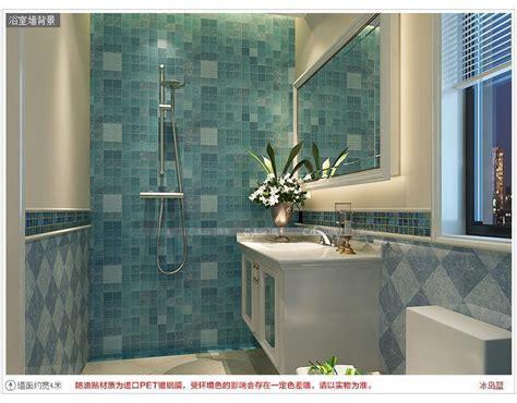 waterproof wallpaper for bathroom kitchen walls paper vinyl mosaic tiles wall stickers