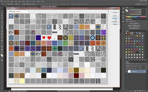 add pattern to image photoshop add and a save sets of custom patterns photoshop 6