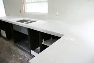 Cost To Build A Kitchen Island diy white concrete countertops chris loves julia