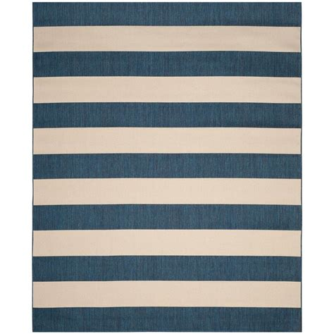 Outdoor Rugs 8 X 10 Safavieh Amherst Light Blue Navy 8 Ft X 10 Ft Indoor Outdoor Area Rug Amt420q 8 The Home Depot