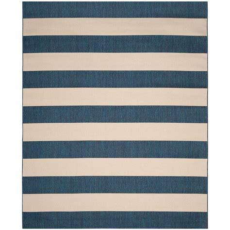 8 x 10 indoor outdoor rug safavieh amherst light blue navy 8 ft x 10 ft indoor outdoor area rug amt420q 8 the home depot