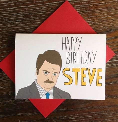 Swanson Birthday Quote Parks And Rec Ron Swanson Happy Birthday Wrong Name By