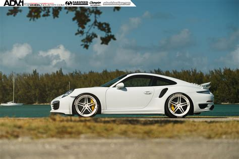 porsche turbo wheels white porsche turbo s adv05 m v2 cs series wheels adv 1