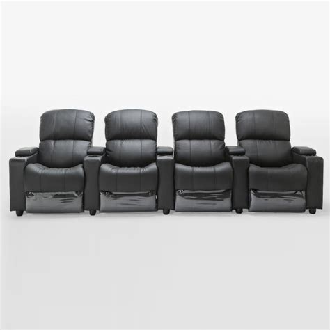 4 Seater Recliner Sofa 4 Seater Black Leather Lounge Theatre Suite Buy Reclining Sofas