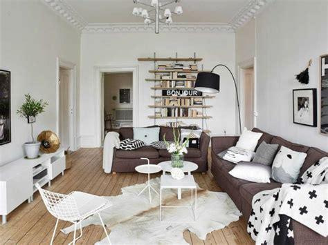 wohnzimmer scandi style wohnzimmer ideen mit brauner f 252 r ein angesagtes