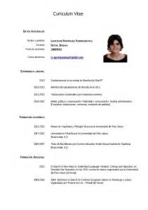curriculum of vitae resume template