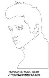 elvis face stencil photo young elvis presley stencil gif